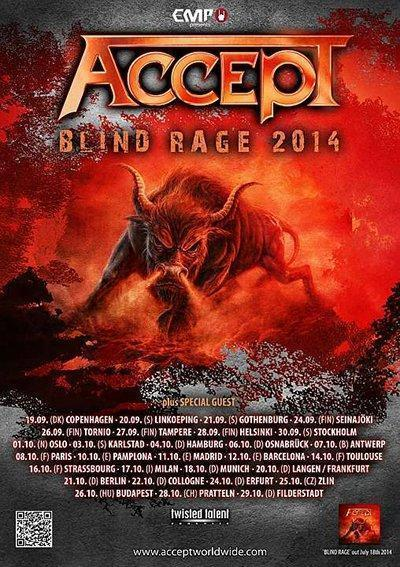 Accept Blind Rage Tourflyer