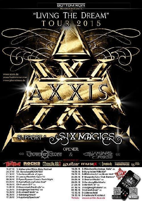 Axxis Living The Dream Tour Flyer