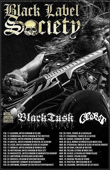 Black Label Society Tourflyer 2015