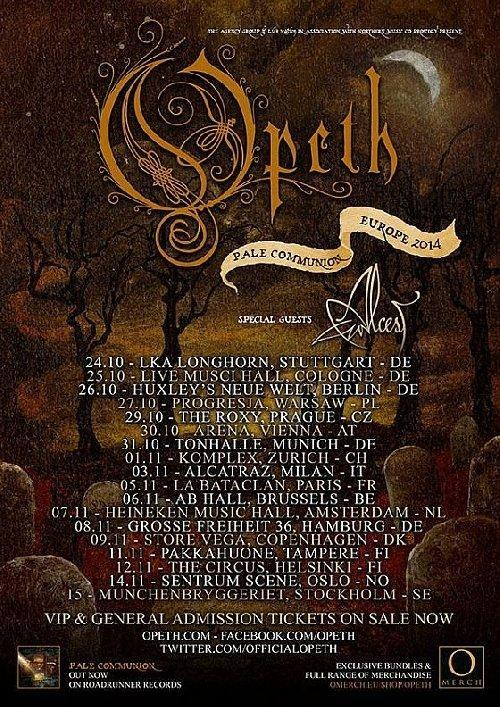 Opeth Tourflyer 2014