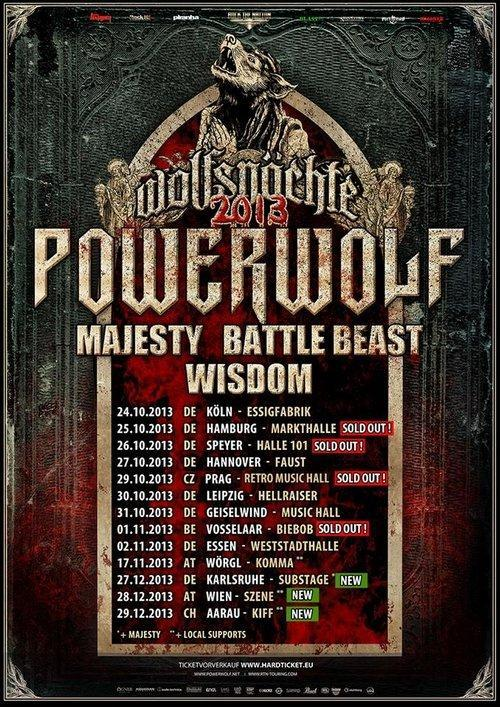 Powerwolf Tourplakat