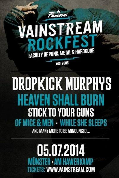 Vainstream Rockfest 2014 flyer