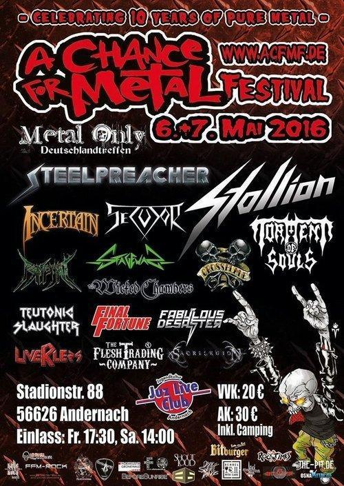 A Chance For Metal Festival Flyer