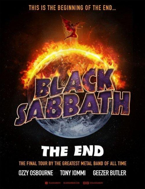 Black Sabbath Tour Flyer The End