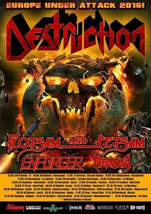 Destruction Tourflyer 2016