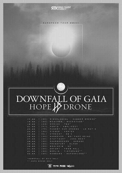 Downfall Of Gaia Tourflyer 2016