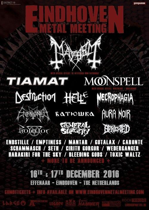 Eindhoven Metal Meeting Flyer 2016