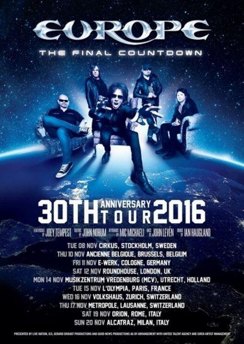 Europe The Final Countdown Tour Flyer