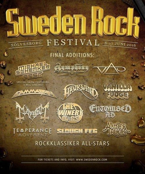 Sweden Rock Final Bands 2016