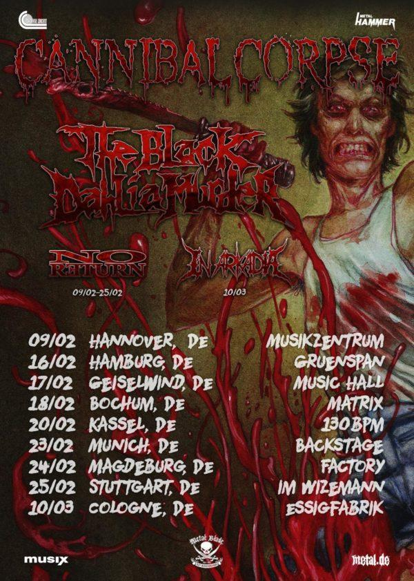 Cannibal Corpse Tour Poster 2018 600x841