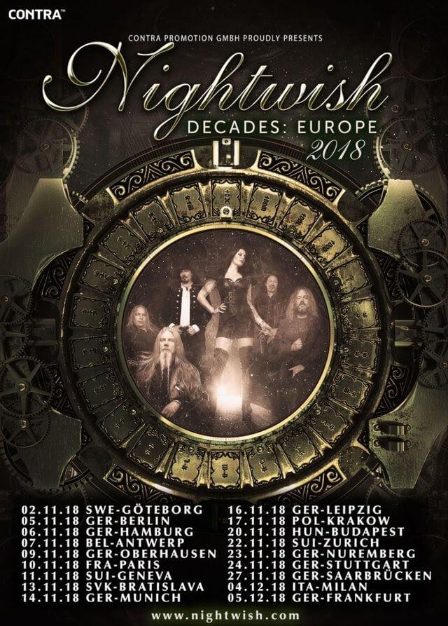Nightwish Decades Tour 2018