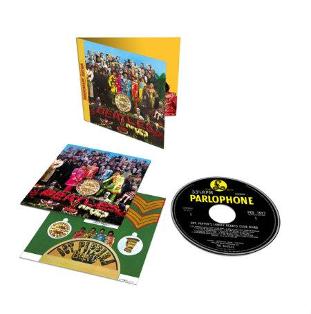 The Beatles Sgt Pepper 1CD Standard 3D Product Shot photocredit universal music