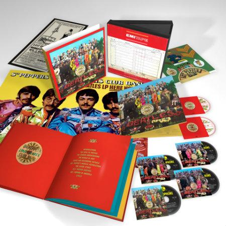 The Beatles Sgt Pepper 6 Disc 3D Product Shot photocredit universal music
