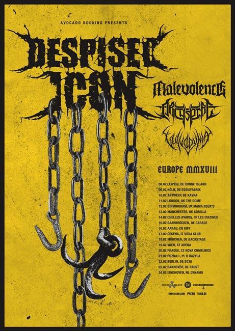 despised icon tourplakat 2018