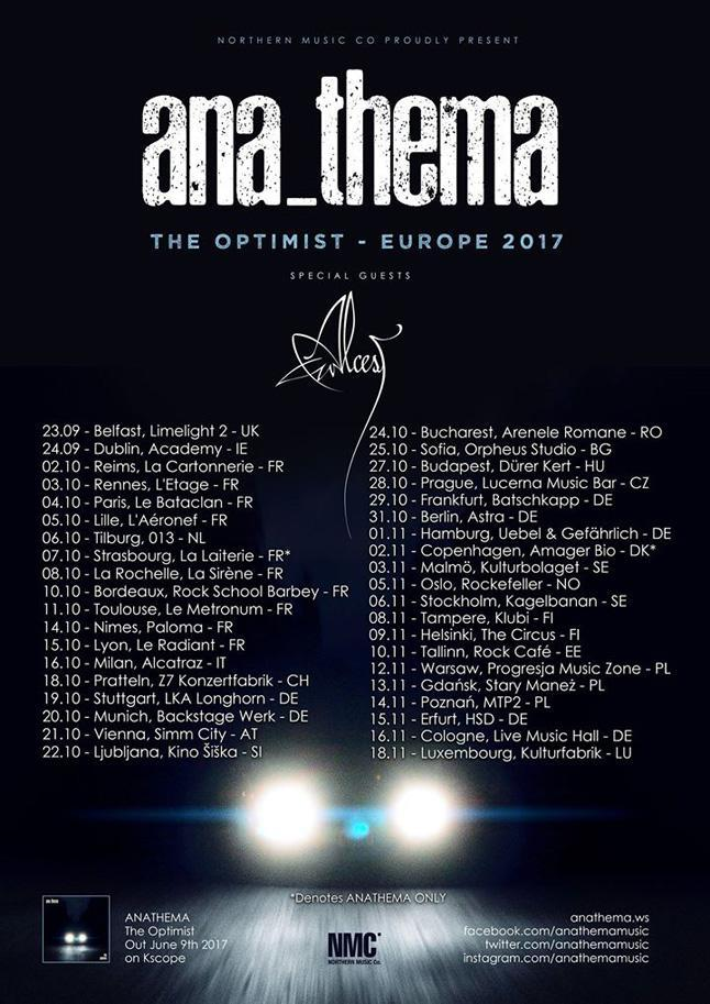 kscope news anathema tour