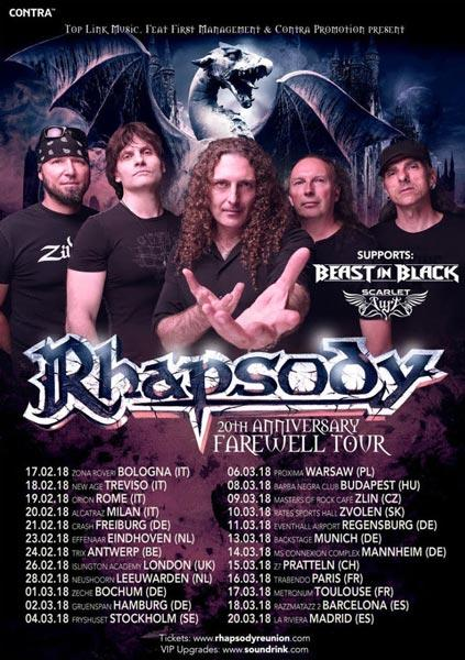 rhapsody tourplakat 2018