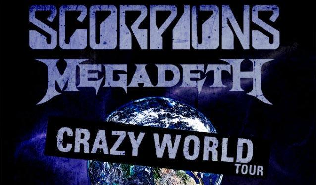 scorpions megadeth crazy world tour 2017