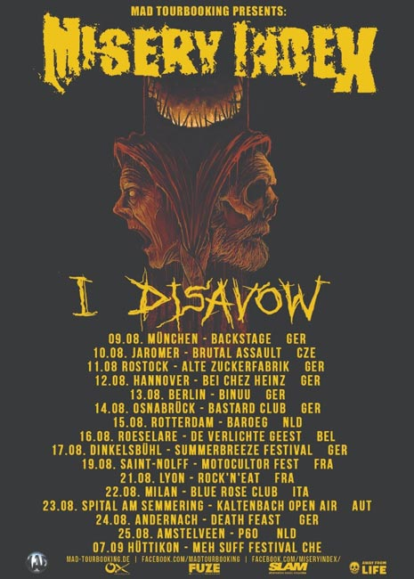 misery index tour 2018