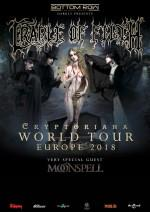 "CRADLE OF FILTH auf ""Cryptoriana World Tour"" in Europa"