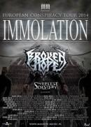 "BROKEN HOPE - gehen mit Immolation auf ""European Conspiracy"" Tour‏"