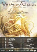 Tourplakat der verschobenen VISIONS OF ATLANTIS-Tournee